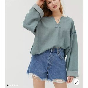 NWT URBAN OUTFITTERS Jax Inside Out Notch Neck Top